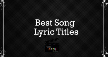 Song Lyric Titles