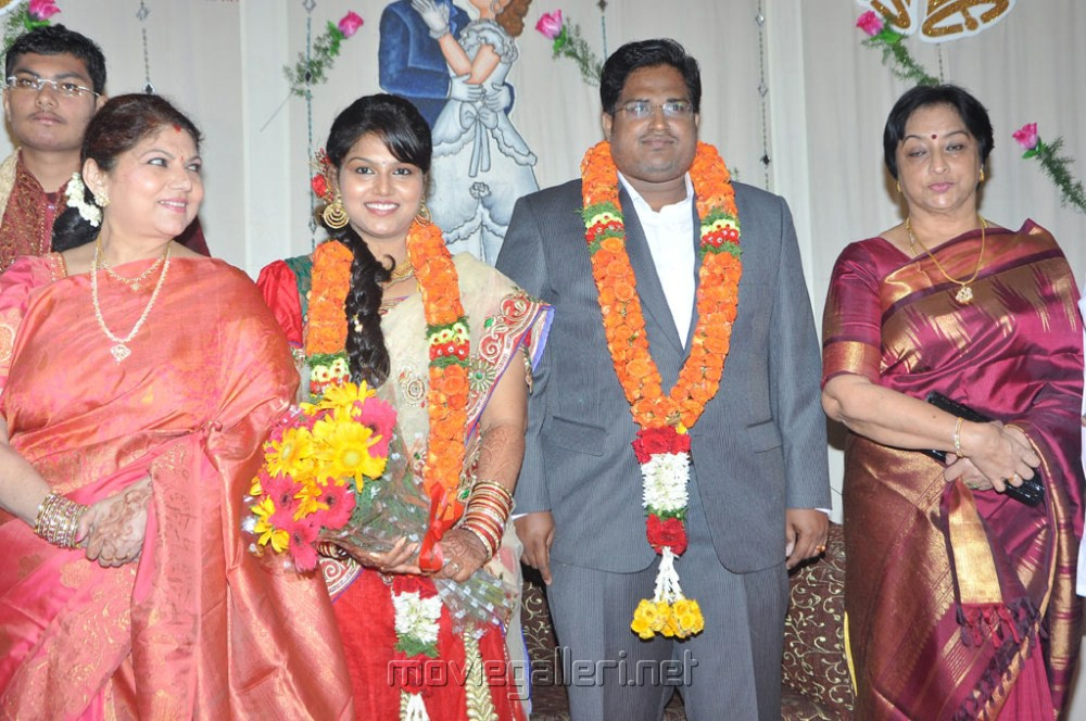 actress lakshmi at y vijaya daughter wedding reception