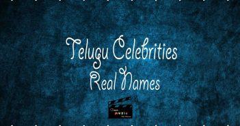 Telugu Celebrities Real Names